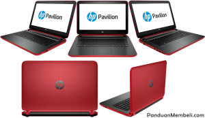 HP Pavilion 14 v042TX Red Merah