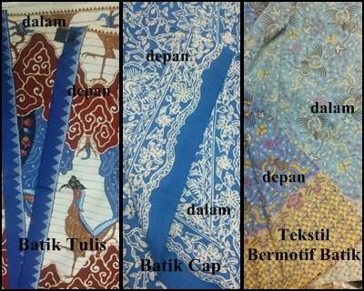 Perbedaan Batik tulis, batik cap, dan motif batik