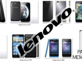 Harga HP Android Lenovo Semua Tipe + Spesifikasi