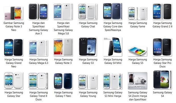Harga HP Android Samsung Semua Tipe Spesifikasi