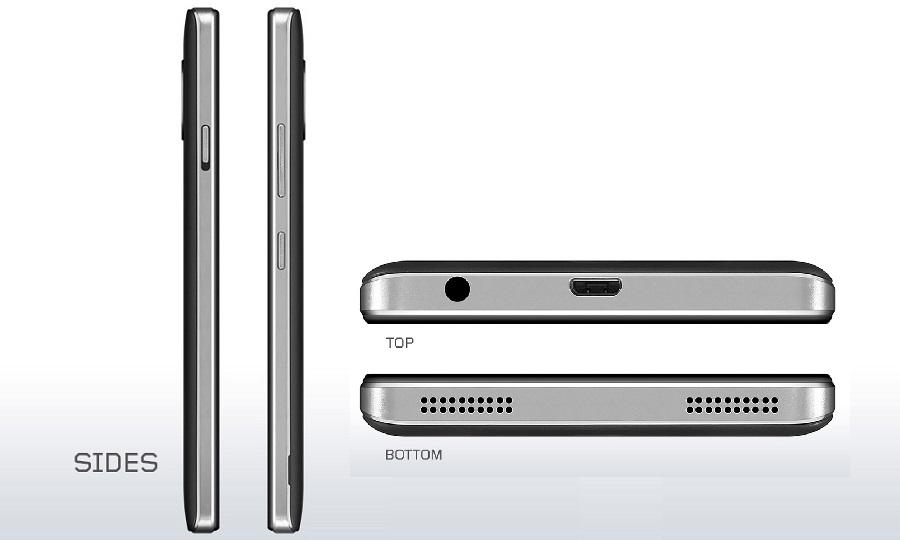 Bagian samping Lenovo Vibe P1m