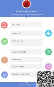 Samsung Galaxy C7 AnTuTu Specs