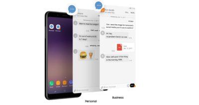 Dual Messanger Galaxy A8 2018