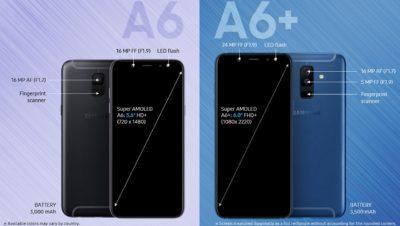 Fitur Spesifikasi Samsung Galaxy A6 A6 Plus 2018