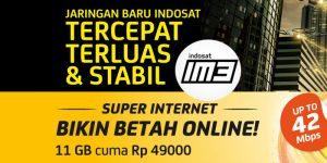 Paket Internet IM3 - Super Internet Indosat (Kuota)